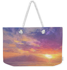 Coastal Hawaiian Beach Sunset Landscape And Ocean Seascape Weekender Tote Bag