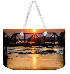 Maumee River At Grand Rapids Ohio Weekender Tote Bag