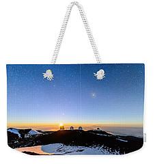 Mauna Kea Moonset 1 Weekender Tote Bag