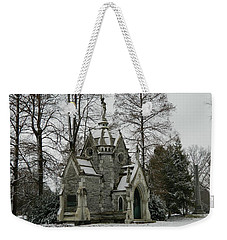 Weekender Tote Bag featuring the photograph Mausoleum In Winter by Kathy Barney