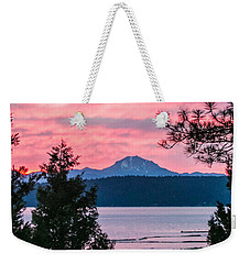 Weekender Tote Bag featuring the photograph Mauve Magnificence by Jan Davies