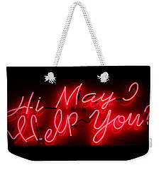 May I Help You Weekender Tote Bag