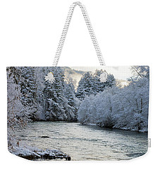 Weekender Tote Bag featuring the photograph Mckenzie River by Belinda Greb
