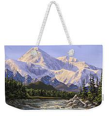 Majestic Denali Alaskan Painting Of Denali Weekender Tote Bag