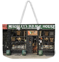 Mcsorley's Old Ale House During A Snow Storm Weekender Tote Bag