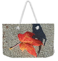 Weekender Tote Bag featuring the photograph Me And My Shadow by Caryl J Bohn