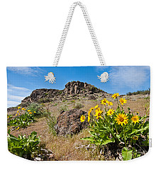 Weekender Tote Bag featuring the photograph Meadow Of Arrowleaf Balsamroot by Jeff Goulden
