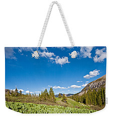 Weekender Tote Bag featuring the photograph Meadow Of False Hellebore by Jeff Goulden