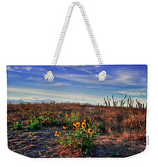 Weekender Tote Bag featuring the photograph Meadow Of Wild Flowers by Eti Reid