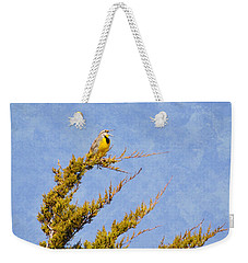 Meadowlark Serenade Weekender Tote Bag by Deena Stoddard
