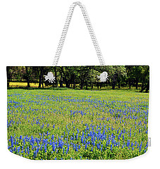 Meadows Of Blue And Yellow. Texas Wildflowers Weekender Tote Bag by Connie Fox