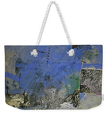 Weekender Tote Bag featuring the painting Meatier Illogical Cold Front by Cliff Spohn
