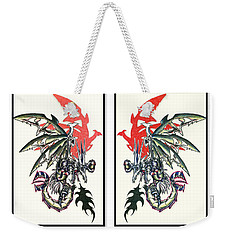 Mech Dragons Collide Weekender Tote Bag