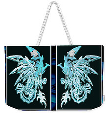 Mech Dragons Diamond Ice Crystals Weekender Tote Bag