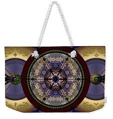 Weekender Tote Bag featuring the digital art Mechanical Wonder by Vincent Autenrieb