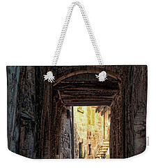 Medieval Alley Weekender Tote Bag