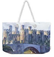 Medieval Conwy Castle.  Weekender Tote Bag
