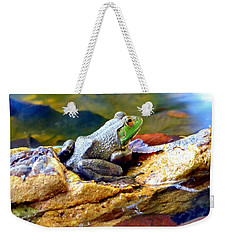 Weekender Tote Bag featuring the photograph Meditation by Deena Stoddard