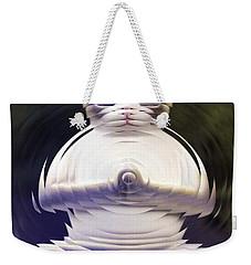 Meditation Kitty Weekender Tote Bag