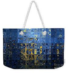 Mediterranean Blue. Modern Mosaic Tile Art Painting Weekender Tote Bag