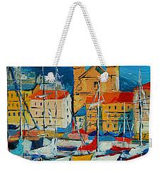 Mediterranean Harbor Weekender Tote Bag