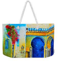 Weekender Tote Bag featuring the painting Mediterranean Medina by Ana Maria Edulescu