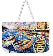 Mediterranean Port Colours Weekender Tote Bag