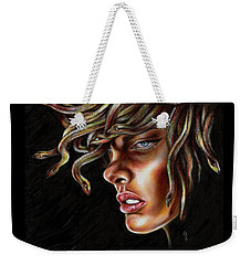 Weekender Tote Bag featuring the painting Medusa No. One by Hiroko Sakai