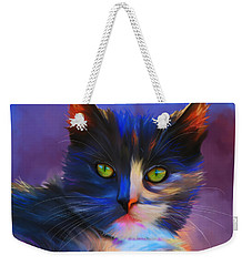 Meesha Colorful Cat Portrait Weekender Tote Bag