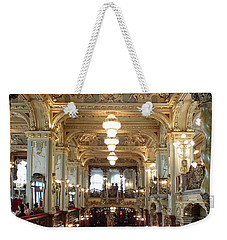 Meet Me For Coffee - New York Cafe - Budapest Weekender Tote Bag by Lucinda Walter