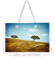 Meet Me Halfway - Poster Weekender Tote Bag