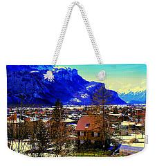 Meiringen Switzerland Alpine Village Weekender Tote Bag