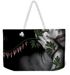 Weekender Tote Bag featuring the painting Melancholy by Pat Erickson