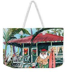 Mele Kalikimaka Hawaiian Santa Weekender Tote Bag
