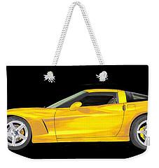 Mellow Yellow Corvette C 6 Weekender Tote Bag