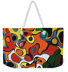 Melted Rubiks Cube Weekender Tote Bag