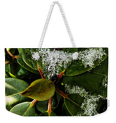 Weekender Tote Bag featuring the photograph Melting Crystals by Robyn King