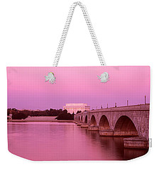 Memorial Bridge, Washington Dc Weekender Tote Bag by Panoramic Images