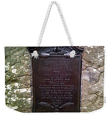 Memorial Tablet To Signal Corps U.s.a. Weekender Tote Bag