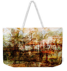 Weekender Tote Bag featuring the mixed media Memories #1 by Sandy MacGowan