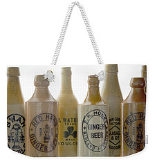 Weekender Tote Bag featuring the photograph Memories In A Bottle by Holly Kempe