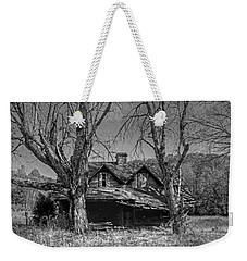 Weekender Tote Bag featuring the photograph Memories Of Ages Past B W by HH Photography of Florida