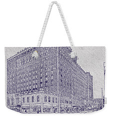 Memphis Peabody Hotel Blueprint Weekender Tote Bag