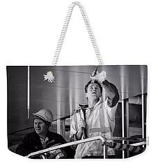 Men At Work Weekender Tote Bag by Wallaroo Images