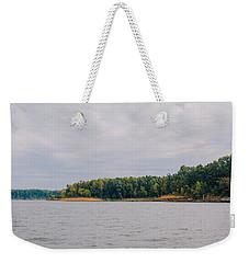 Men Fishing On Barren River Lake Weekender Tote Bag