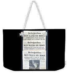 Men Walk On The Moon Weekender Tote Bag