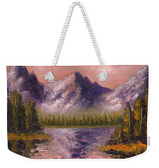 Weekender Tote Bag featuring the painting Mental Mountain by Jason Williamson