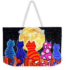 Meowing At Midnight Weekender Tote Bag by Nick Gustafson