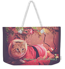 Meowy Christmas Weekender Tote Bag by Melanie Lankford Photography