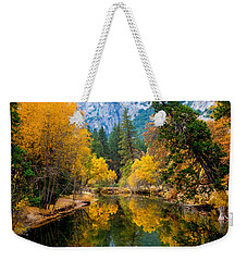 Merced River And Leaning Pine Weekender Tote Bag